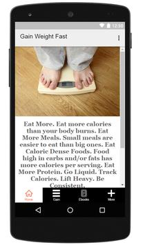 How To Gain Weight Fast screenshot 4