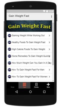How To Gain Weight Fast apk screenshot