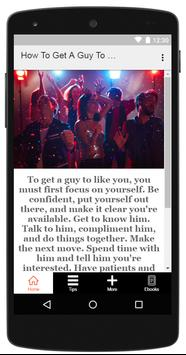 How To Get A Guy To Like You apk screenshot