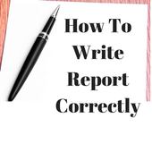 How to Write Report Correctly icon