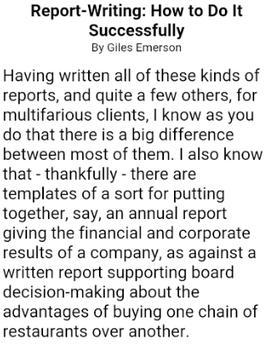 HOW TO WRITE A REPORT screenshot 4