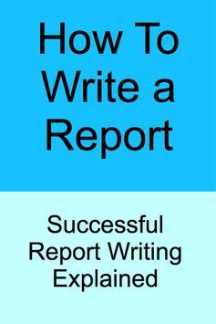 HOW TO WRITE A REPORT screenshot 5