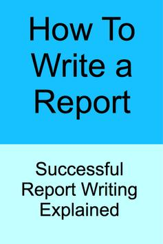 HOW TO WRITE A REPORT poster