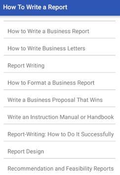 HOW TO WRITE A REPORT screenshot 1