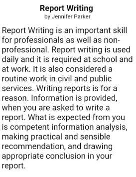HOW TO WRITE A REPORT screenshot 2