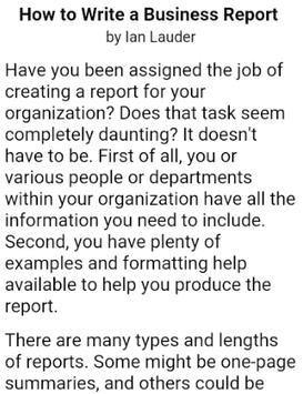HOW TO WRITE A REPORT screenshot 3