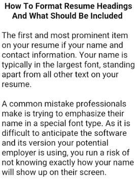 HOW TO WRITE A CV screenshot 2