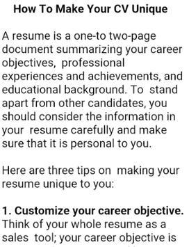 HOW TO WRITE A CV screenshot 3