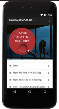 HOW TO CATCH A CHEATER poster