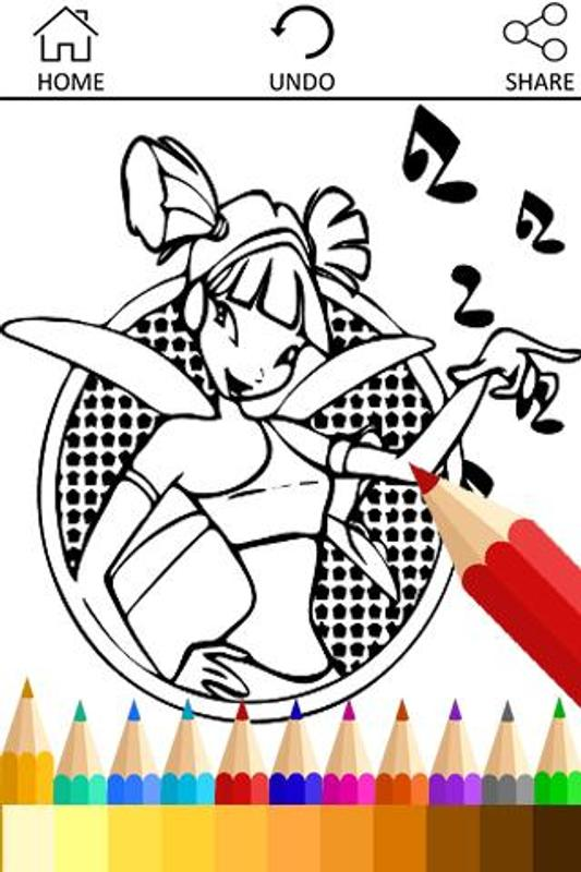 How To Draw WinX Coloring Book Apk Screenshot