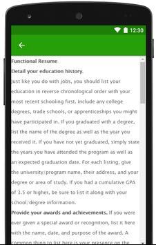 How to write a resume 2018 apk screenshot