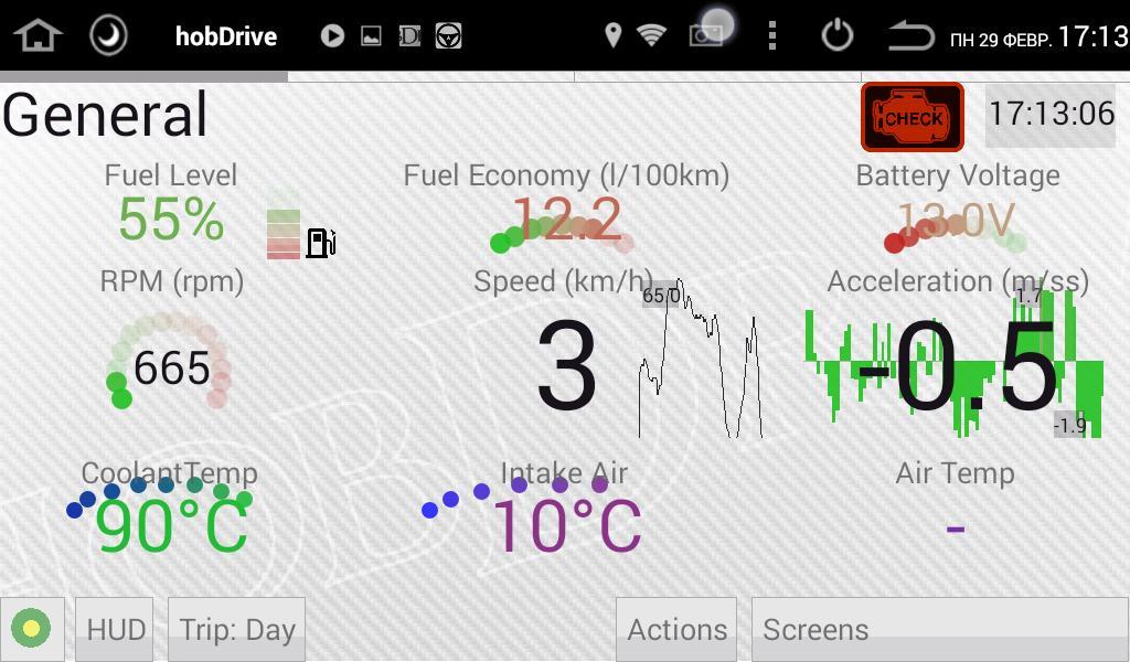 HobDrive OBD2 ELM327, car diagnostics, trip comp for Android - APK