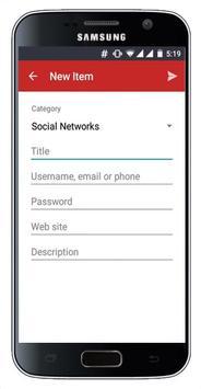 Passwords Storage apk screenshot