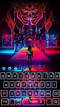 Hologram Neon Monster Theme poster