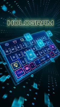 Keyboard-Hologram Neon Theme 海報