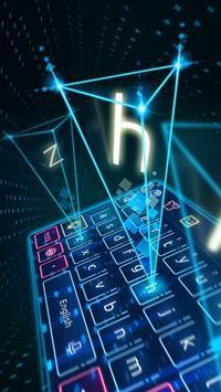 Keyboard-Hologram Neon Theme 截圖 1