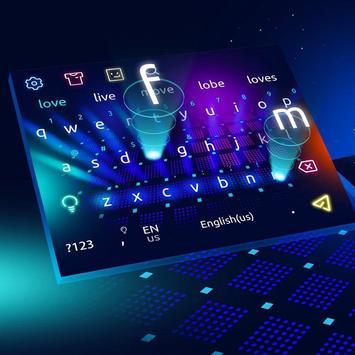 3D Colorful Hologram Keyboard poster