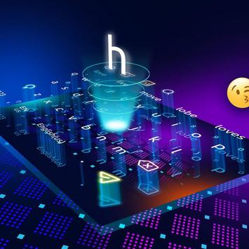 3D Neon Hologram Keyboard screenshot 1