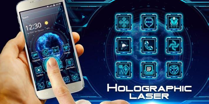 Holographic Neon Blue apk screenshot