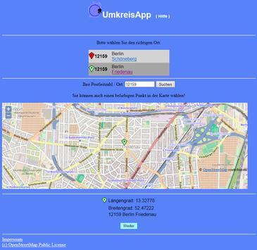UmkreisApp screenshot 1