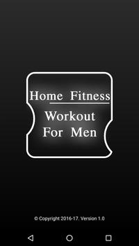 Home Fitness Workout For Men Poster