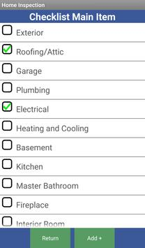 check list for home inspection