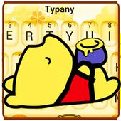 Cute Yellow Honey Winnie Bear Typany Keyboard icon