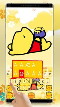 Cute Yellow Bear Keyboard Theme screenshot 1