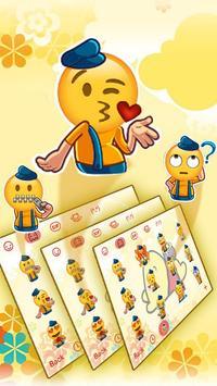 Cute Yellow Honey Winnie Bear Typany Keyboard screenshot 3