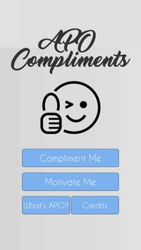 APO Compliments poster