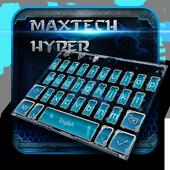 blue biochemical science keyboard tema icon