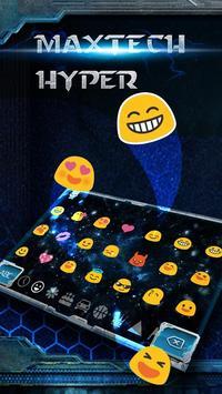 blue biochemical science keyboard tema apk screenshot