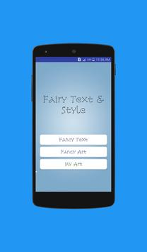 Fairy Text poster