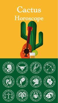 Horoscope Cactus Theme poster