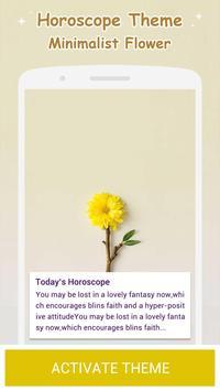 Minimalist Flower Theme poster