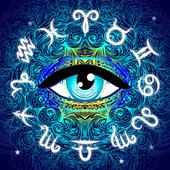 Neon Eye Horoscope Theme icon