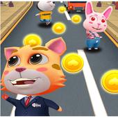 Talking Cat Rush - Subway & Bus Tom Run 3D icon