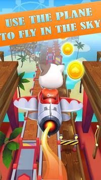 Talking Cat Rush - Subway & Bus Tom Run 3D apk screenshot