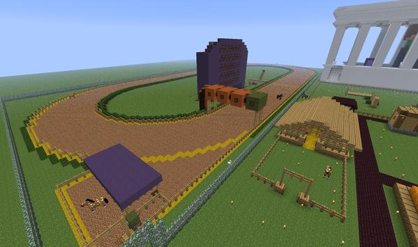 Horse racing for Minecraft poster
