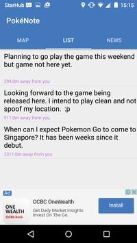 PokéNote for Pokemon Go apk screenshot