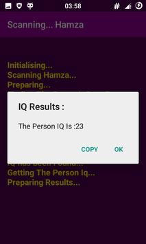 The IQ Guesser Prank : Funny IQ Scanner App! screenshot 2
