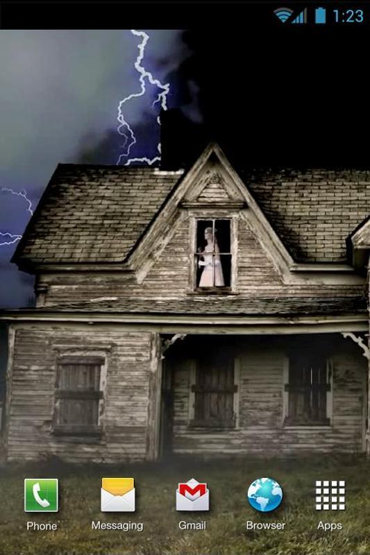 Haunted House Live Wallpaper Apk Screenshot