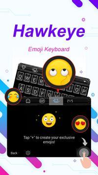 Hawkeye Theme&Emoji Keyboard apk screenshot
