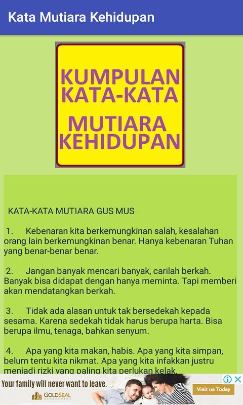 Kata Kata Mutiara Kehidupan Für Android Apk Herunterladen