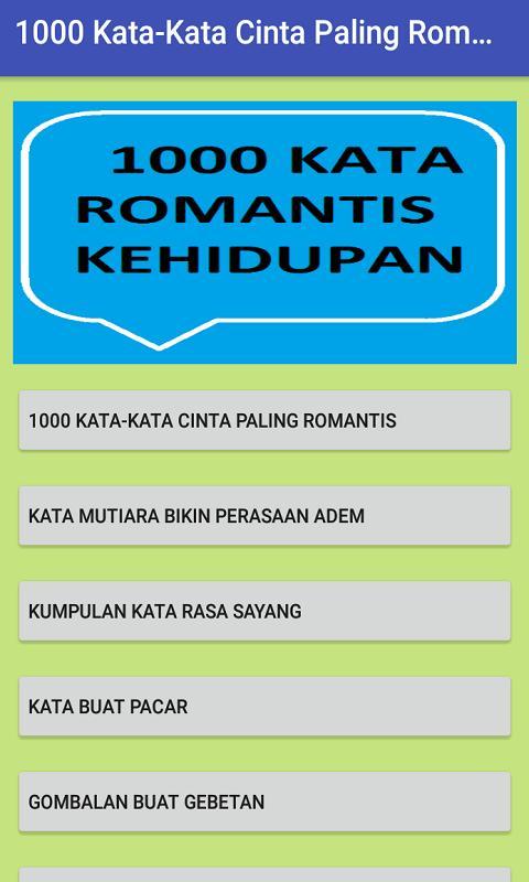 1000 Status Wa Dan Kata Paling Romantis For Android Apk