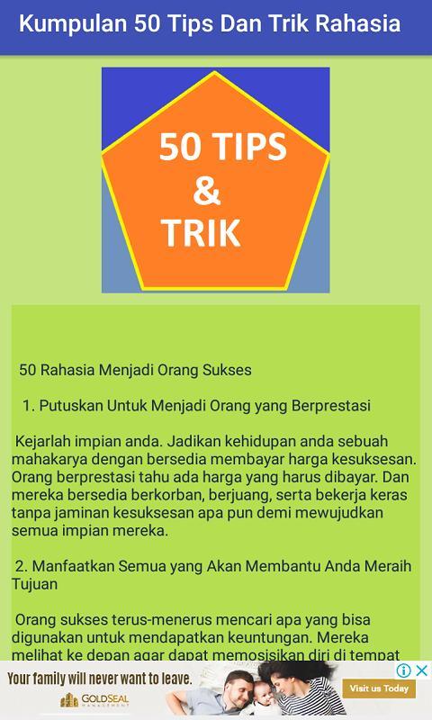 Kumpulan Tips Dan Trik Rahasia for Android - APK Download