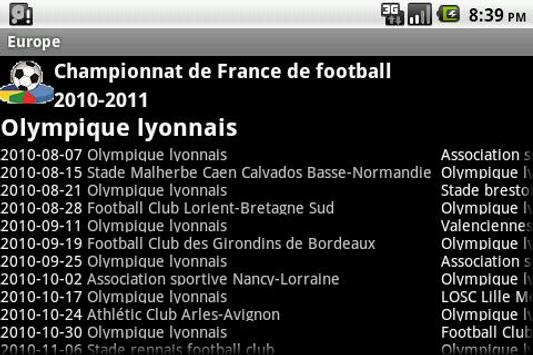 French Europe Football History screenshot 4