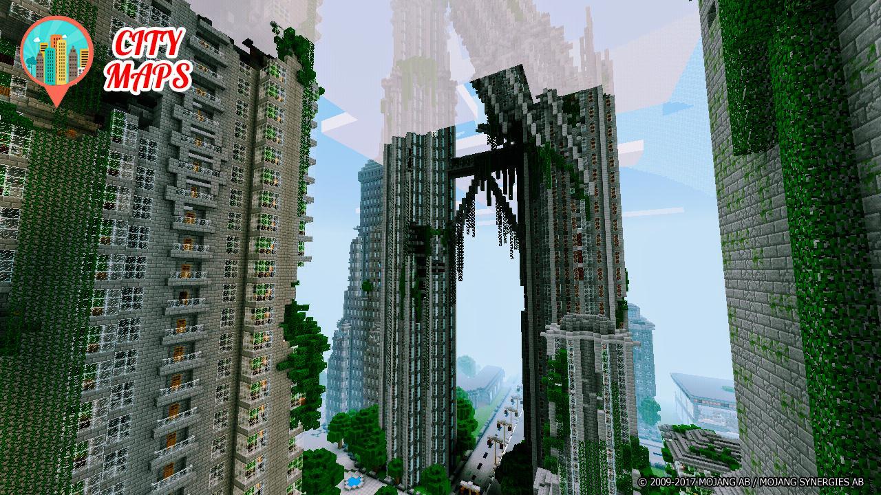 Cities Minecraft maps für Android - APK herunterladen on