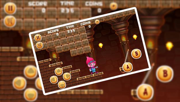 Super Poppy Running of Trolls screenshot 2