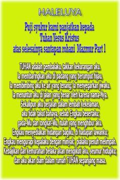 Santapan Rohani 2 Mazmur poster
